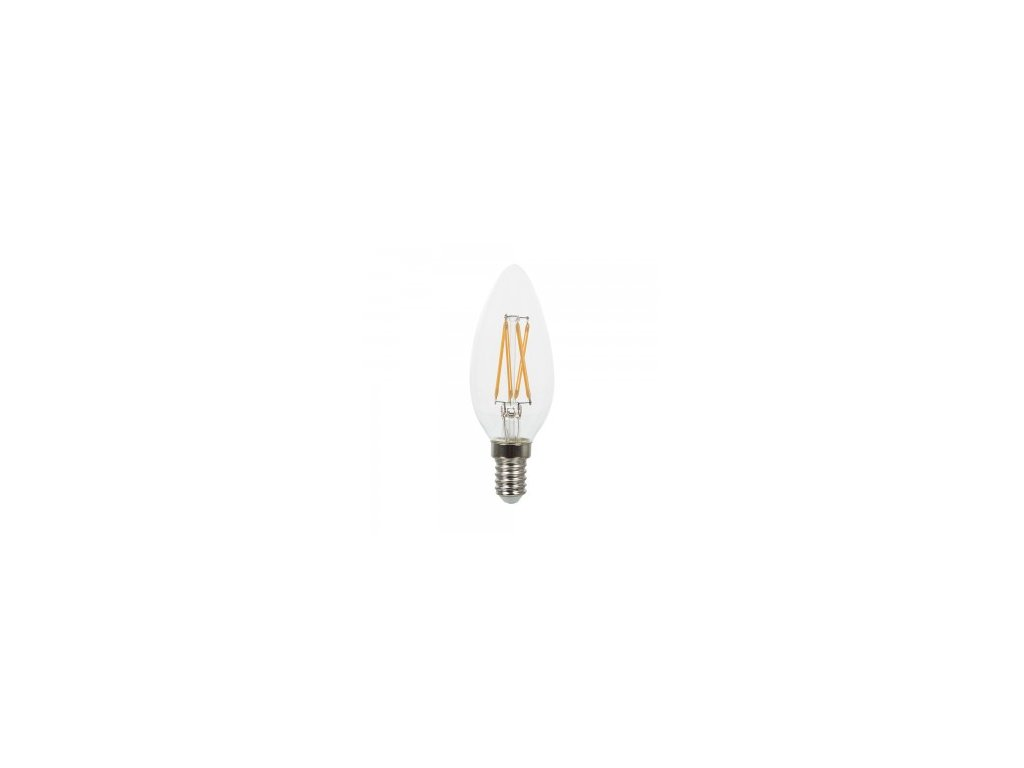 42854 led zarovka 4w candle twist e14 2700k 400lm vt 1985c 43071