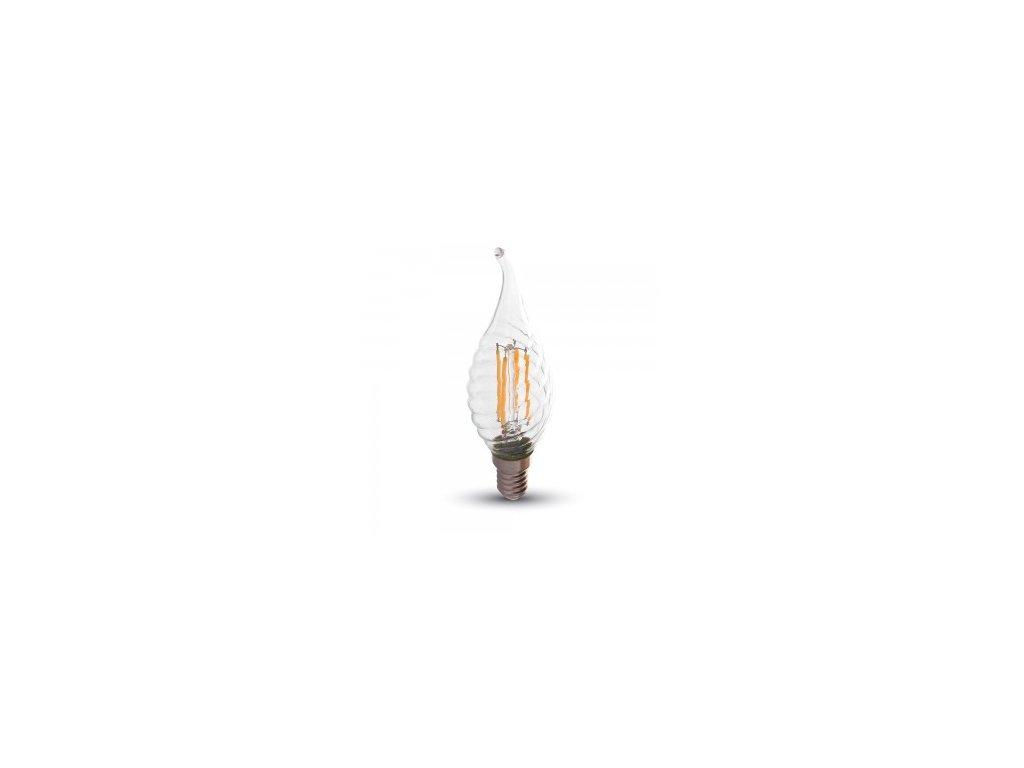LED žárovka 4W Flame Candle E14 2700K 320lm stmívatelná (VT-1995-4388)