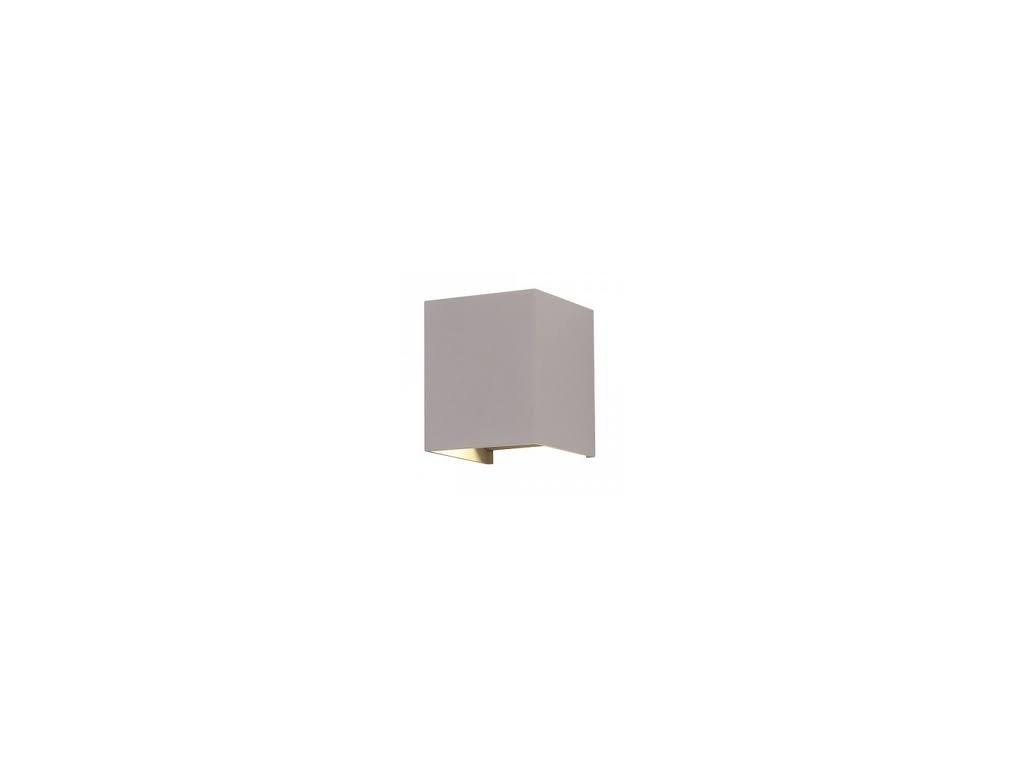 LED nástěnné svítidlo Q 6W 3K šedé (VT-759-7080)