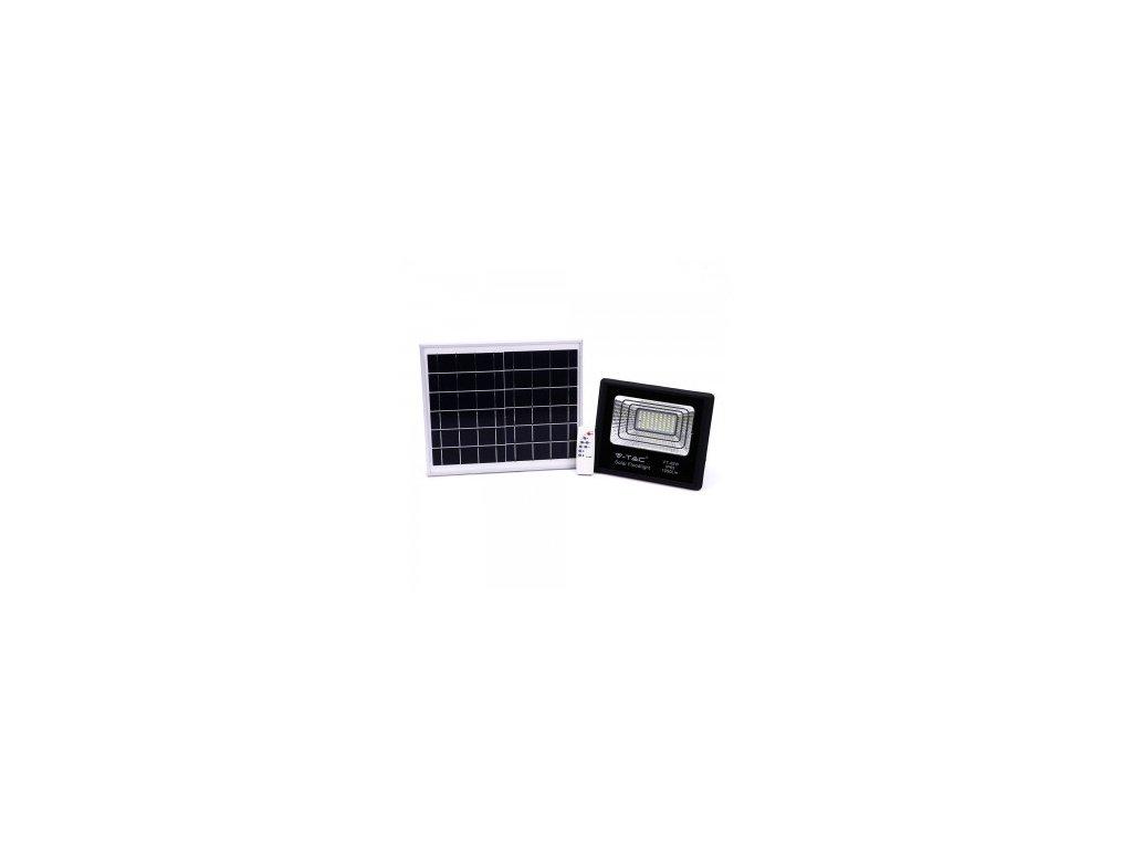 43736 solarni led reflektor 40w 4000k cerny vt 40w 8574