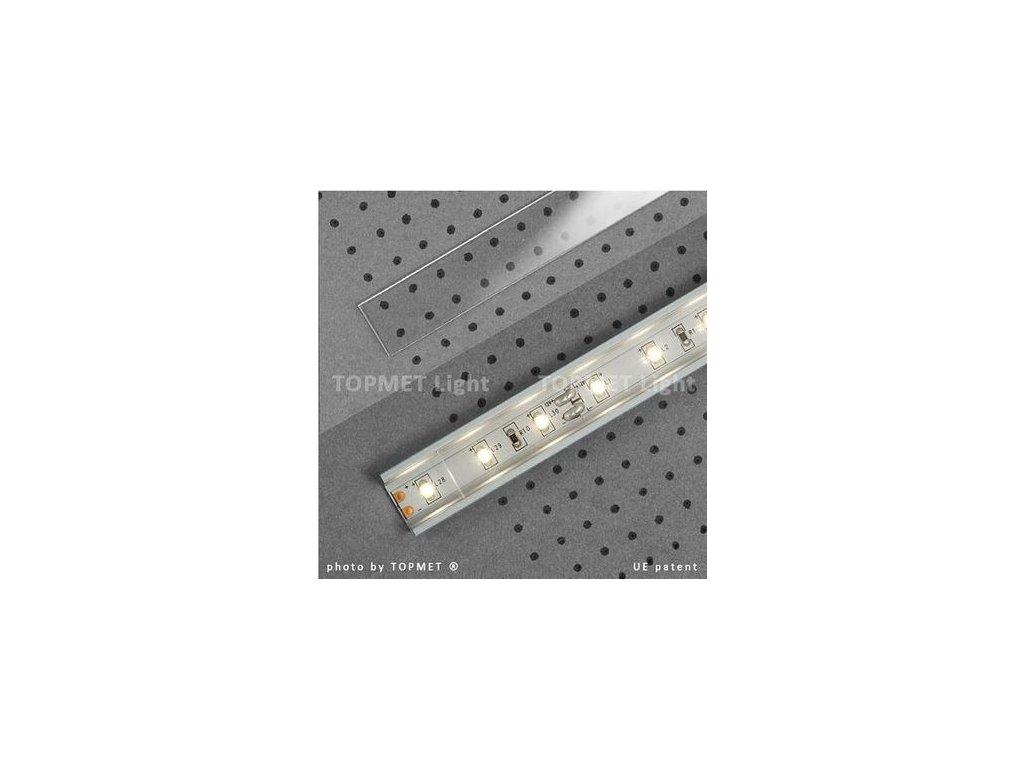 Lišta krycí čirá nasouvací 2m na profil 11,60,12 (55/LED/CIRA)