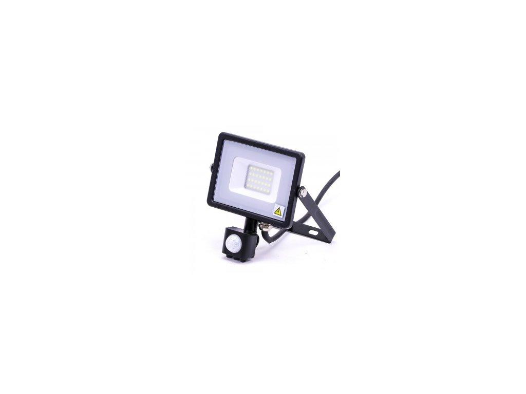 44951 led reflektor samsung cerny se senzorem 20w 6000k vt 20 s 453