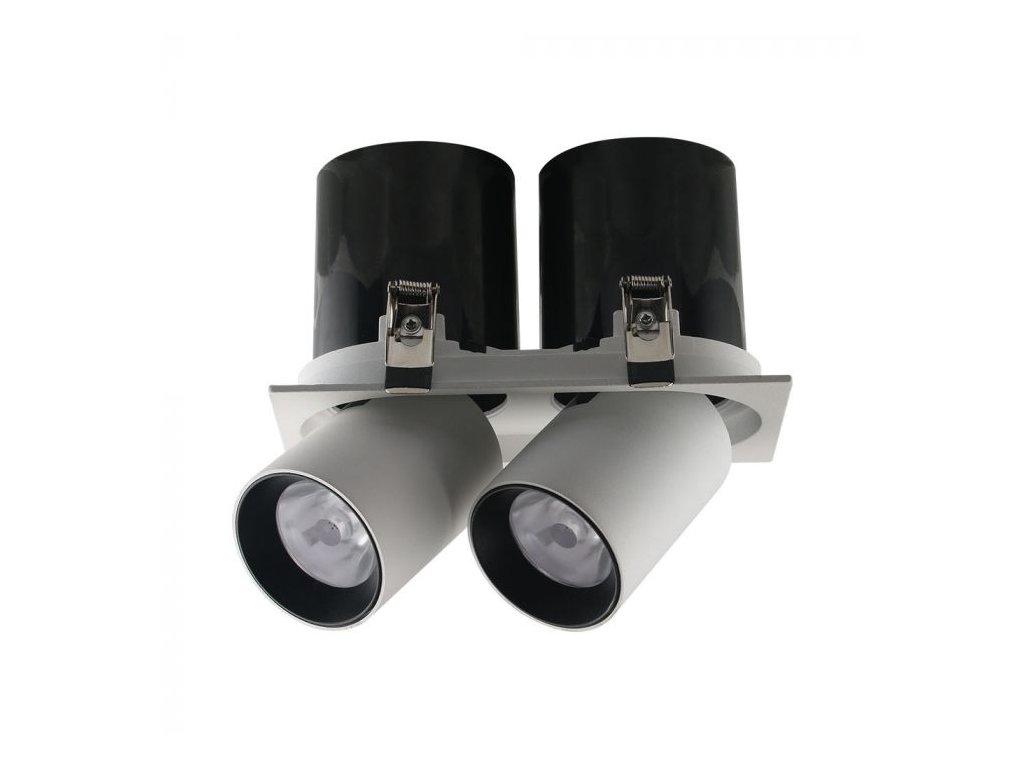Vsazený LED projektor bílý 2x18W 4K (VT-436-20050)