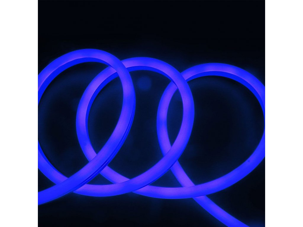 Neonový pásek IP68 24V 6,5W modrá (VT-554-2615)