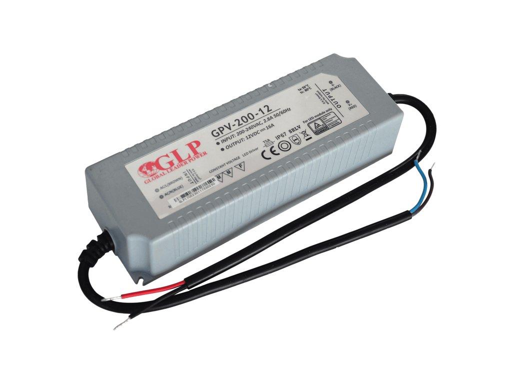 eng pl LED power supply GPV 200 12 16A 192W 12V IP67 1664 1