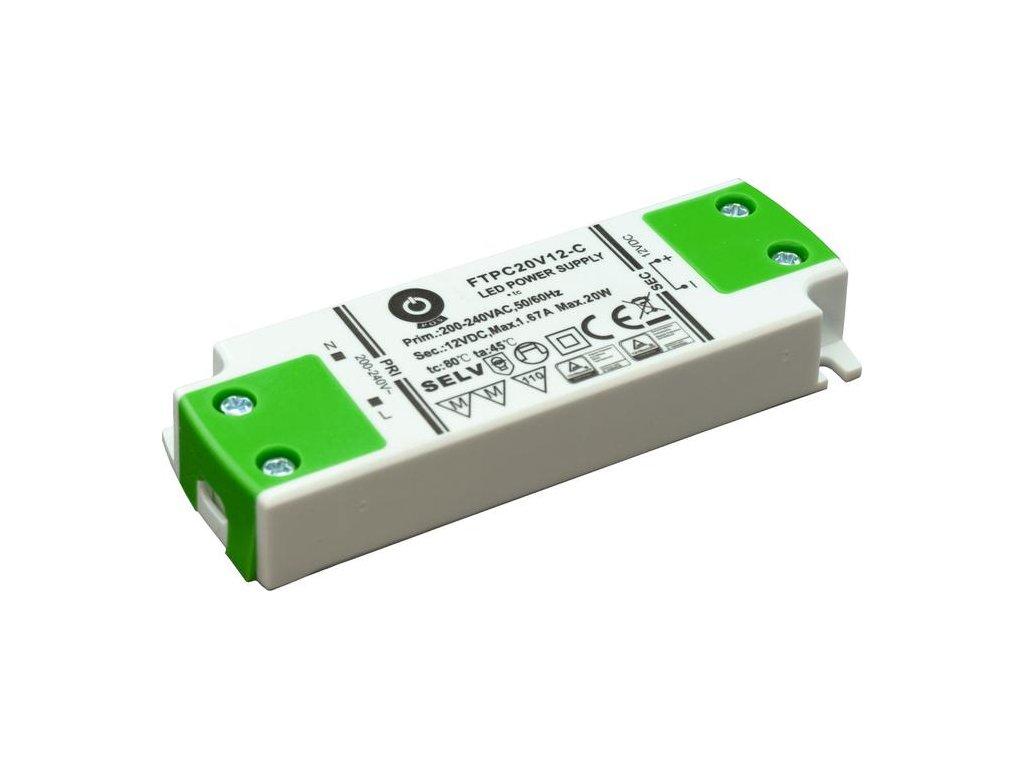 pos power zasilacz led ftpc ultra slim 20w 12v ftpc 20 12