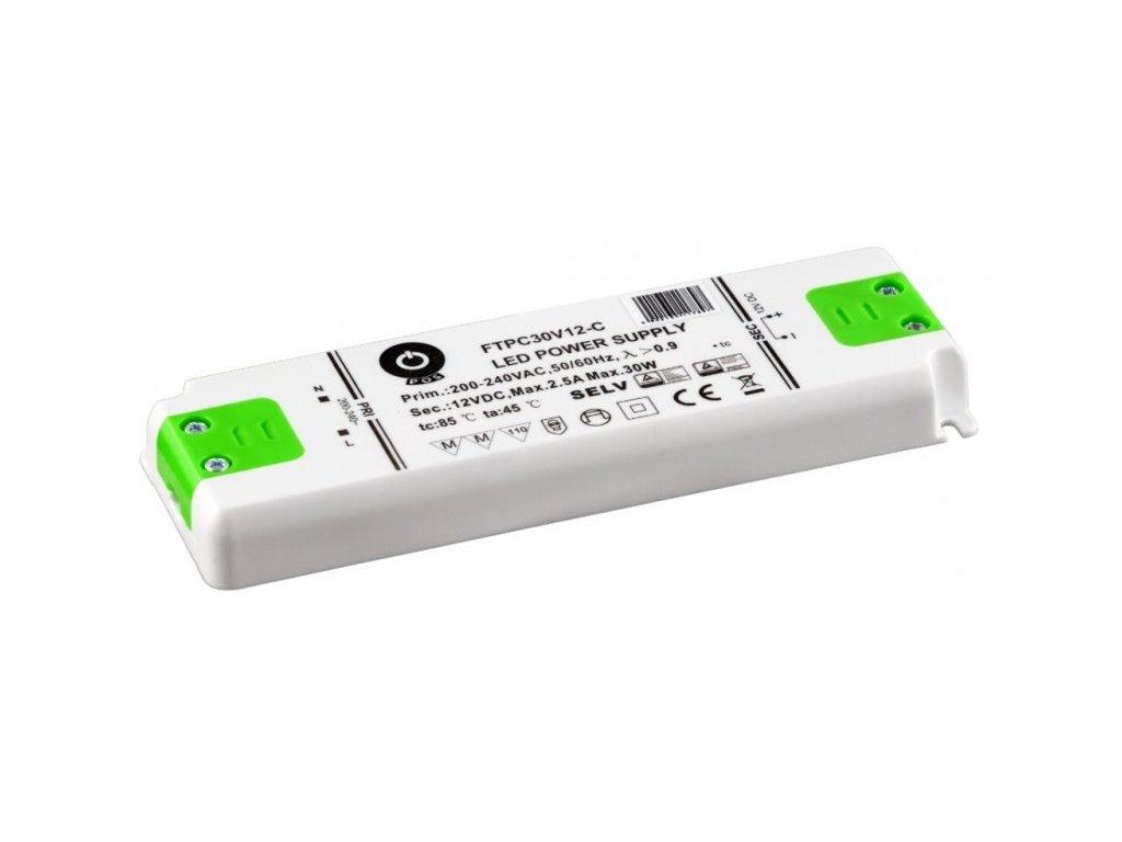 Napájení LED stavební FTPC 12V 2500mA 30W (FTPC-30-12)