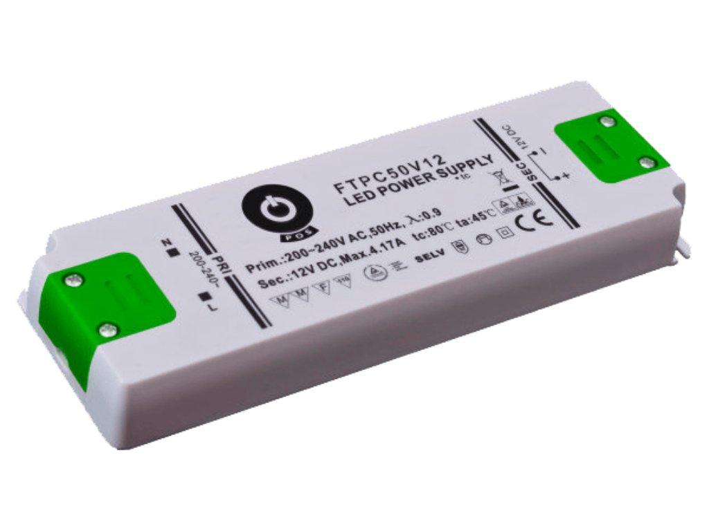 Napájení LED stavební FTPC 12V 4170mA 50W (FTPC-50-12)