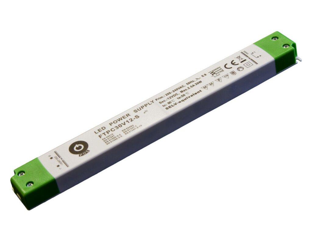 Napájení LED stavební FTPC 12V 2500mA 30W slim (FTPC-30-12)