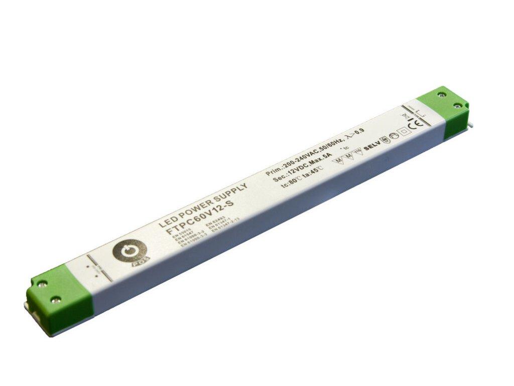 Napájení LED stavební FTPC 12V 5000mA 60W slim (FTPC-60-12-SLIM)