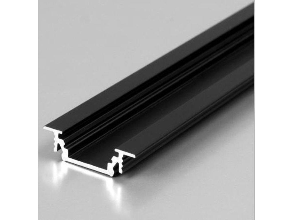 Hliníkový Profil GROOVE 10 BC/UX černý mat elox 2m (metráž) (3209118120)