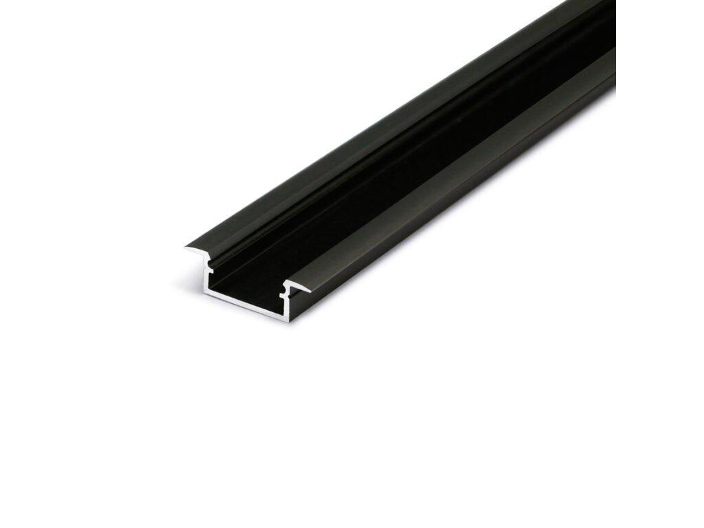 Hliníkový profil WIRELI BEGTIN 12 J/S černý mat elox 2m (metráž) (3209290120)