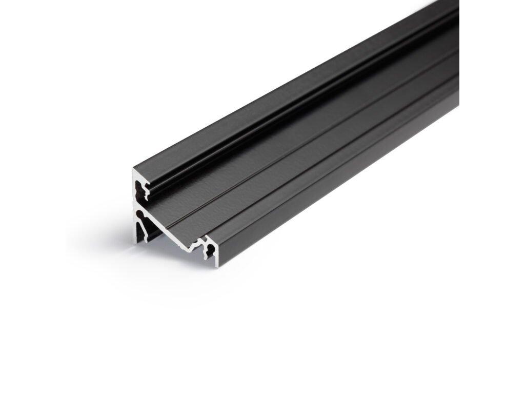 Hliníkový profil WIRELI CORNER27 G/U černý elox 2m (metráž) (3209229120)