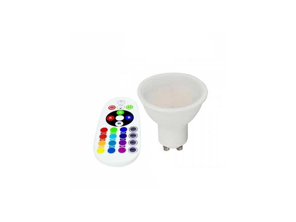 vtac 2780 v tac smart vt 2244 3 5w led spot lampe smd gu10 rgb w kaltweiss 6400k mit fernbedienung rf sku 2780 1af