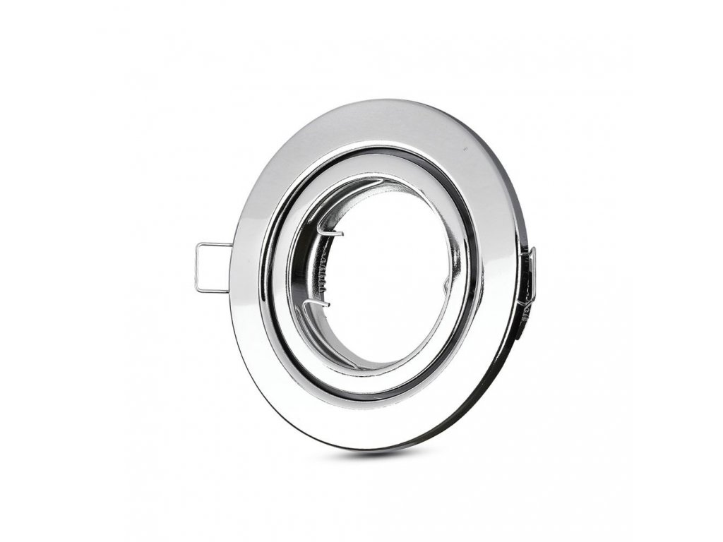 Obruba pro žárovku GU10 stříbrná (VT-7227-3471)