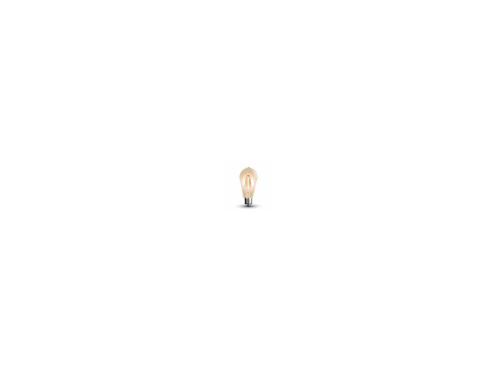 LED žárovka - 4W E27 Filament 2200k stmívatelná (VT-1964D-4368)