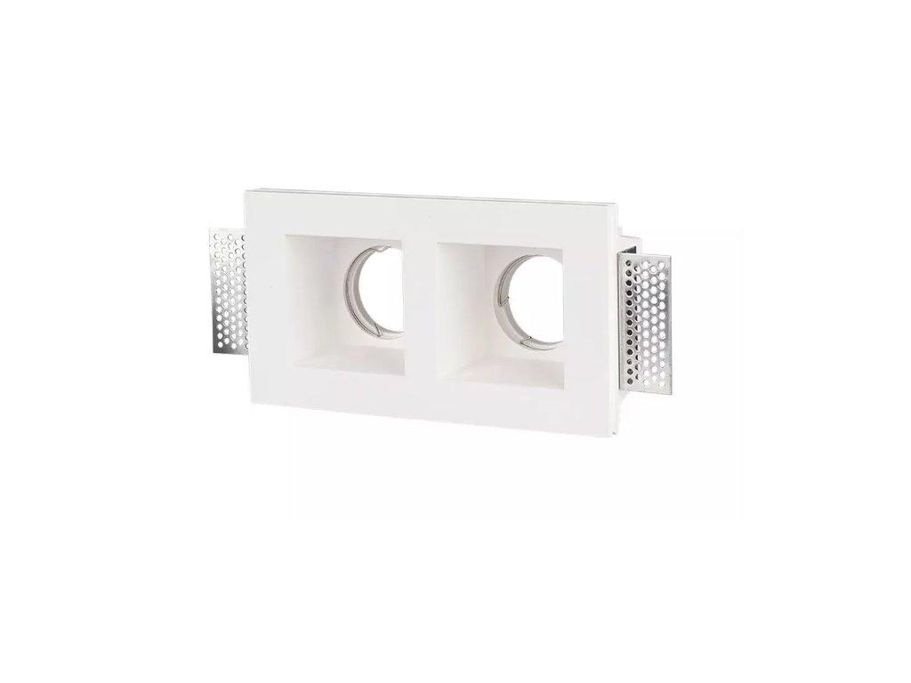 Obruba pro žárovku 2x GU10 bílá (VT-762-3648)