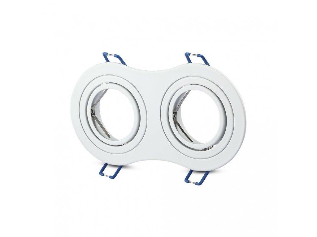 Obruba pro žárovku 2x GU10 bílá (VT-783RD-WH-3601)