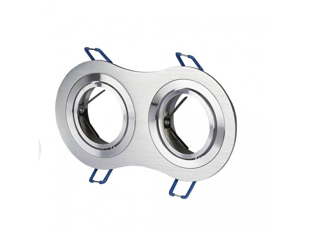 Obruba pro žárovku 2x GU10 stříbrná (VT-783RD-AB-3602)