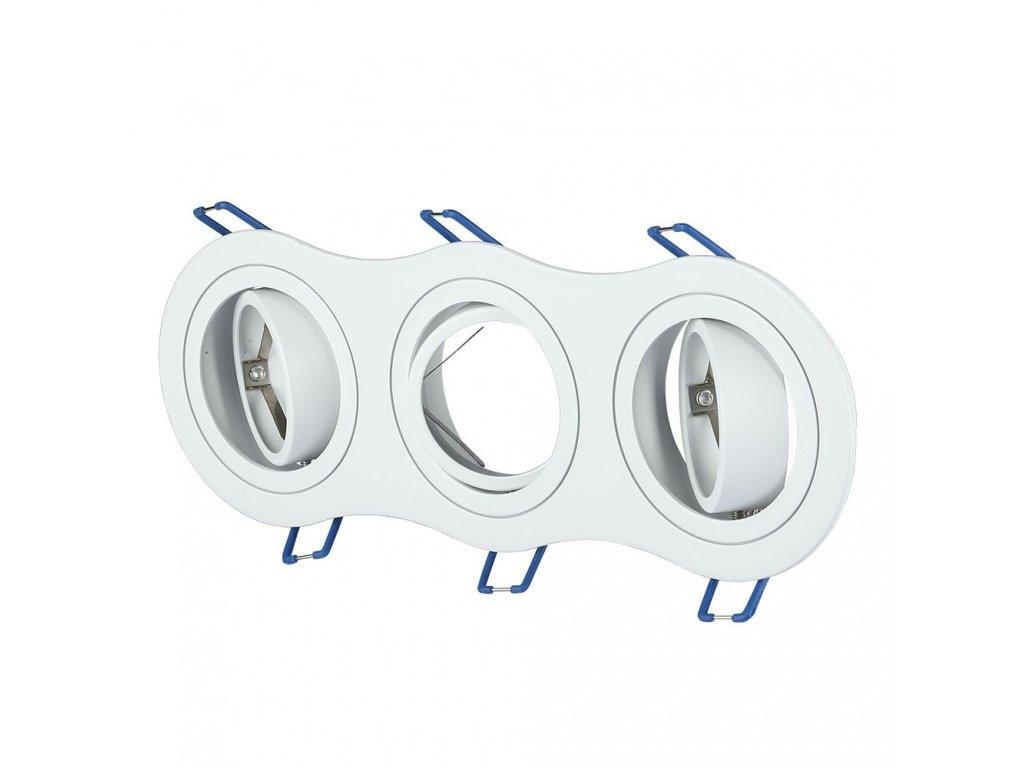 Obruba pro žárovku 3x GU10 bílá (VT-784RD-WH-3603)