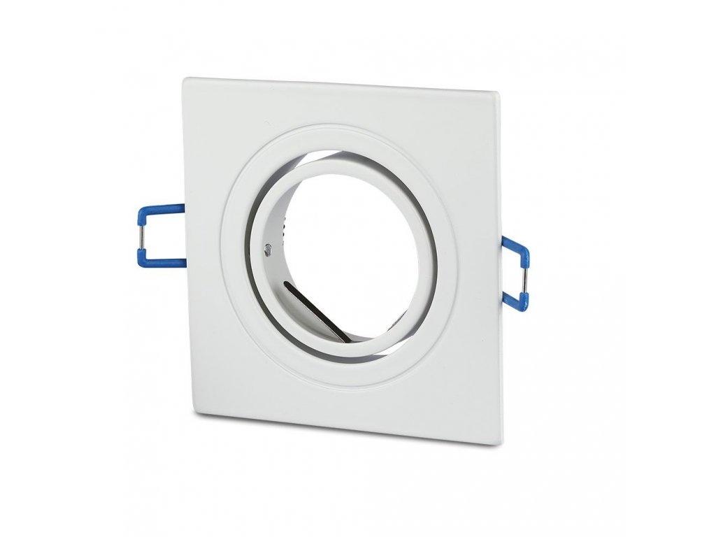 Obruba pro žárovku GU10 bílá (VT-782SQ-WH-3605)