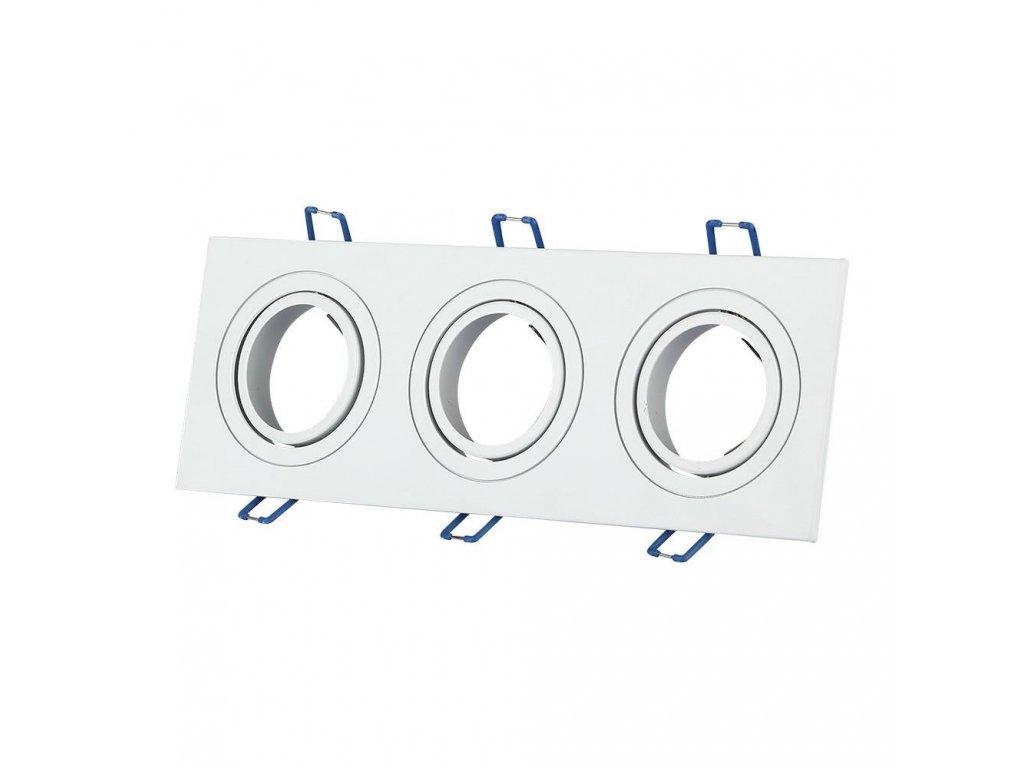 Obruba pro žárovku 3x GU10 (VT-784SQ-WH-3609)