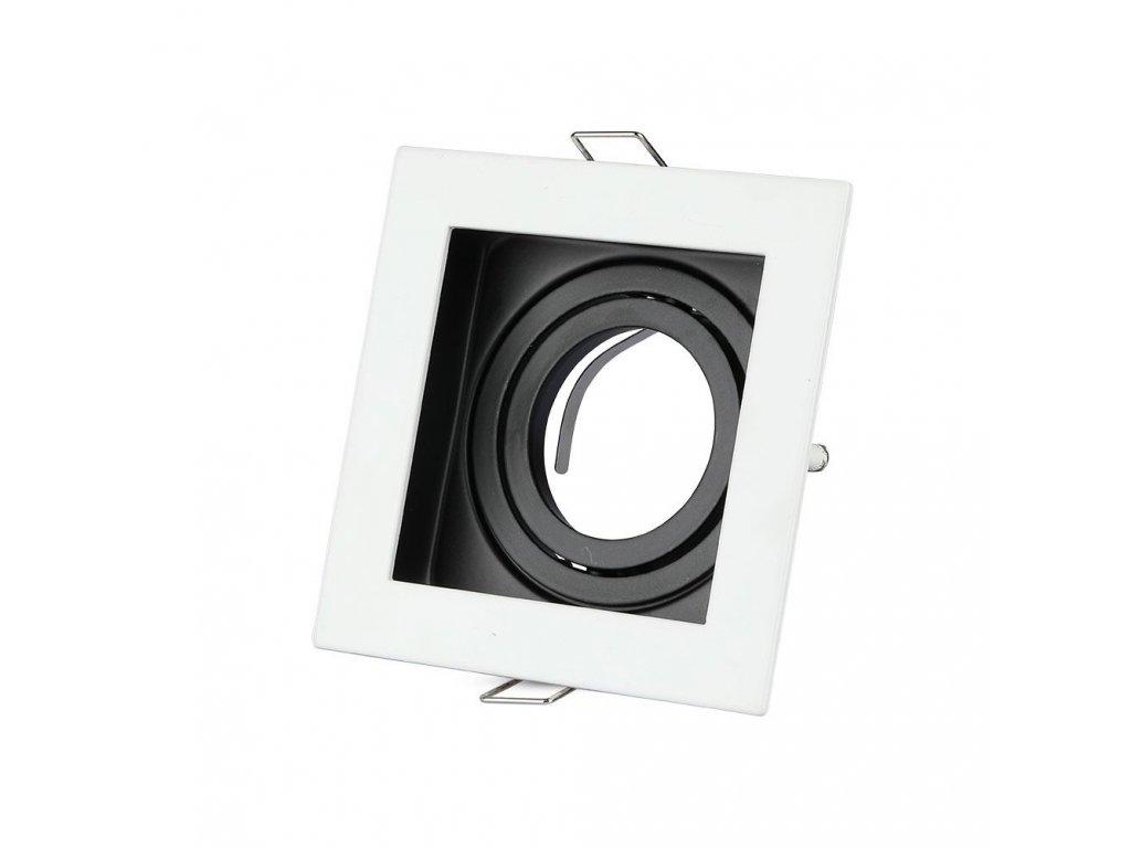 Obruba pro žárovku GU10 bílá (VT-781SQ-WH-3597)