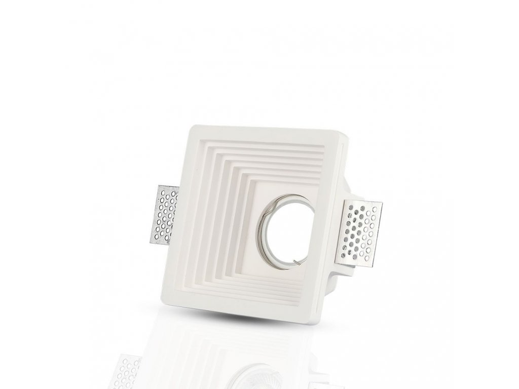 Obruba pro žárovku GU10 bílá (VT-867-SQ-3151)