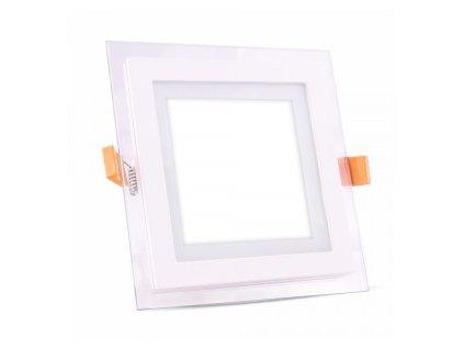 Podhledové svítidlo vsazené Q 12W 6400K skleněný rám (VT-1202-4741)
