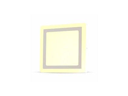 LED světlo přisazené Q 8W 3K dvojité (VT-809-4922)