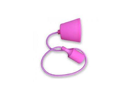 Závěsná silikonová objímka E27 růžová (VT-7228-3479)