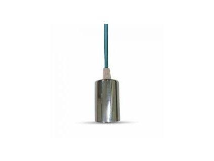 Závěsná objímka E27 světle modrá (VT-7338-3787)