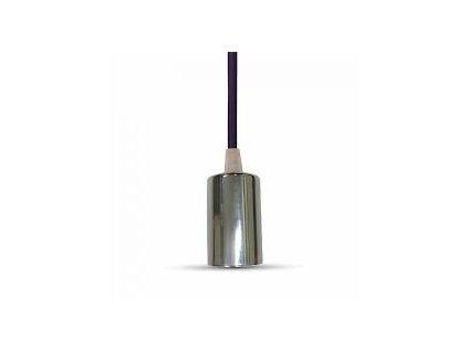 Závěsná objímka E27 fialová (VT-7338-3790)