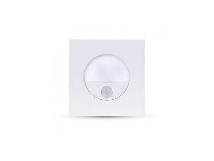 LED orientační svítidlo čtverec 3W 4500K 100lm se senzorem (VT-8035-5570)