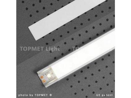 Lišta krycí nasouvací opal 2m na profil 11,60,12 (55/LED/OPAL)