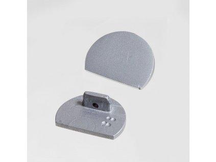 Koncovka XC07 půlkulatá stříbrná (55/LED/XC07/K)