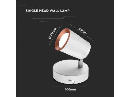 LED nástěnná lampa 6W 3000K (VT-806-8250)