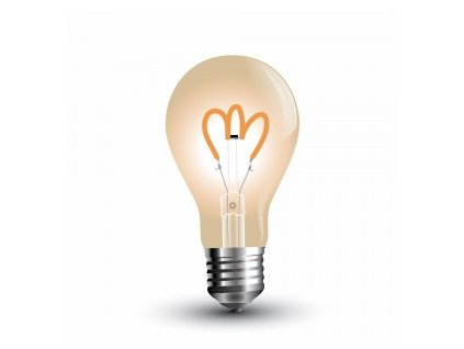 LED žárovka 3W Curve filament jantar (VT-2063-7219)