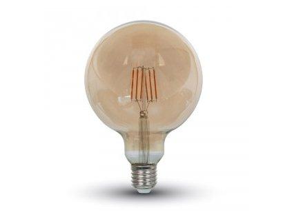 LED žárovka 4W long filament jantar (VT-1956-4473)