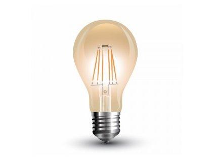 LED žárovka 4W A60 filament E27 jantar 2200K (VT-1954-4498)