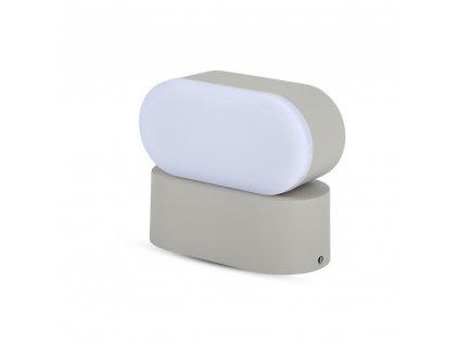 LED nástěnné svítidlo 6W 3000K IP65 šedé (VT-816-8290)