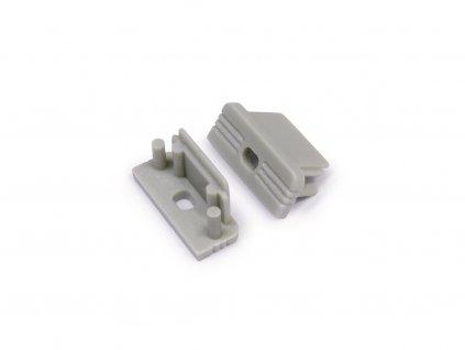Koncovka 10 šedá s otvorem na kabel (pár) (3202199602)