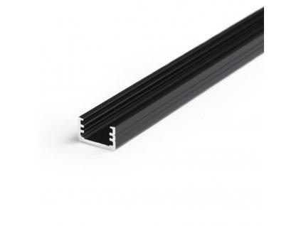 Hliníkový profil WIRELI SLIM8 A/Z černý elox 2m (metráž) (3209141120)