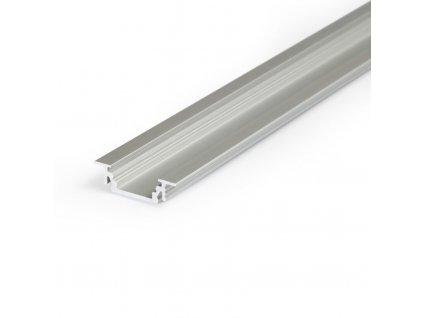 Hliníkový profil WIRELI GROOVE 10 BC/UX stříbrný mat elox 2m (metráž) (3202104120)