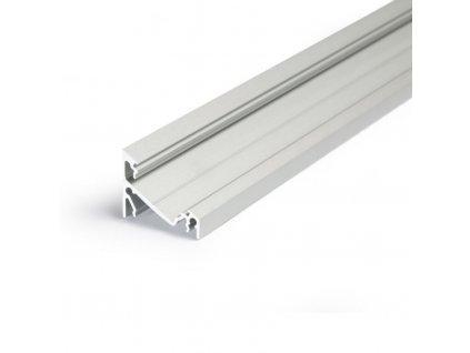 Hliníkový profil WIRELI CORNER27 G/U stříbrný mat 2m (metráž) (3209122120)