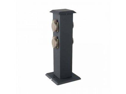 vtac 8821 v tac vt 1155 4 4 ways garden outdoor socket 16a eu standard stainless steel dark grey body ip44 sku 8821 dd3