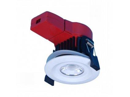 vt 18d 8w led downlight ip65 dimmable white satin chrome colour change 11917 1000 18830