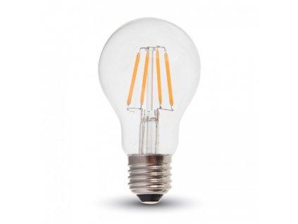 LED žárovka - 4W Filament E27 A60 Clear Cover 4000K (VT-1885-7119)