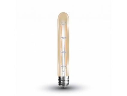 LED žárovka  - 6W T30 E27 Filament Amber 2200K (VT-1895-7143)