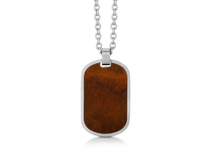 Ocelový náhrdelník s přívěskem destička REZ